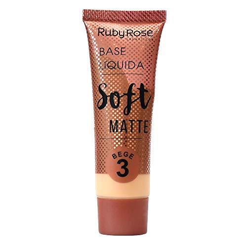 Base Líquida Soft Matte Bege HB-8050 Ruby Rose - Cor B03