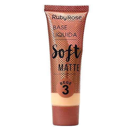 Base Líquida Soft Matte Bege HB-8050 Ruby Rose - Cor B03