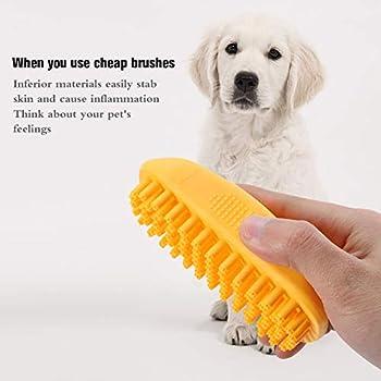 Girls' Love Talk Brosse de shampooing en caoutchouc pour chien et chat à poils courts ou longs