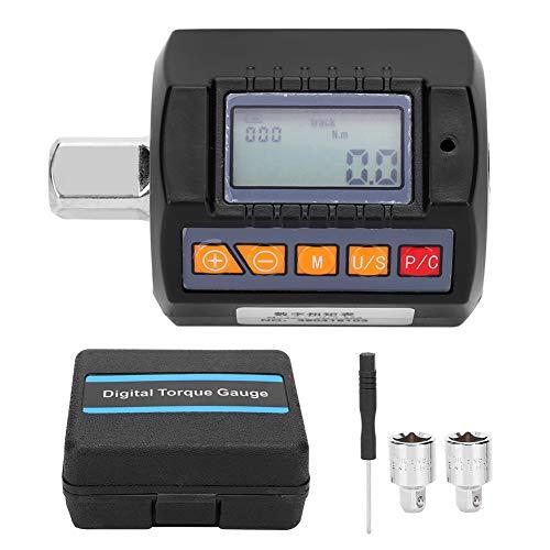 Medidor de torque digital, llave de torque portátil Adaptador llave de alta precisión Probador de torque eléctrico para monitoreo de rodamientos de automóviles Herramienta de prueba de estanqueidad