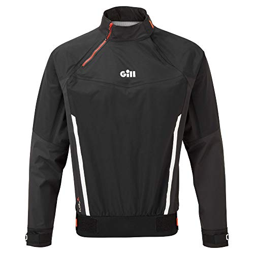 Gill Mens Race Fuse Dinghy Sailing Smock - Graphite - Lightweight Respirhable Waterproof Sprayproof