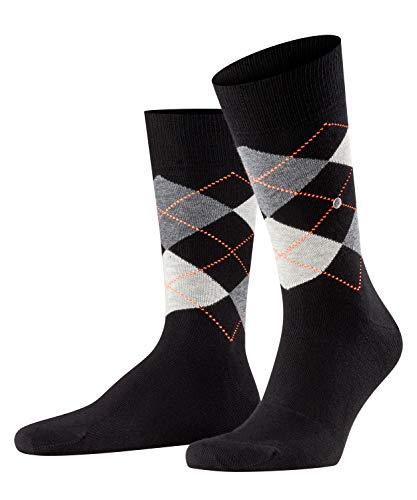 Burlington Herren King M SO Socken, Schwarz (Black-Flames 3011), 40-46