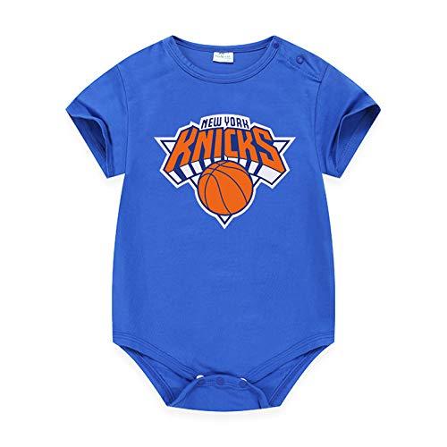LDLXDR Traje de Gateo para bebés, Pijama de una Pieza para bebés, Adecuado para Traje de Baloncesto para bebés recién Nacidos de 3 a 15 Meses, Ropa para recién Nacidos,Blue-1,90CM