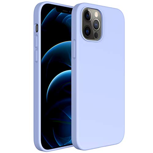 Soke Compatible with iPhone 12 Pro Max Case 2020 6.7 Inch - [Silky-Soft Touch + Full-Body Covered Drop Protection + Enhanced Camera & Screen Protection], Clove Purple