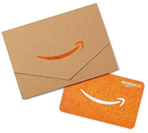 Amazon.de Geschenkkarte in Geschenkkuvert - 50 EUR (Karton & Orange)