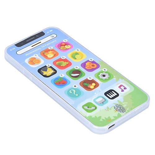 Wosune Teléfono móvil para bebés, teléfono móvil Educativo, Juguete de Aprendizaje, teléfono con música, Pantalla táctil en inglés con música para la educación para el Aprendizaje