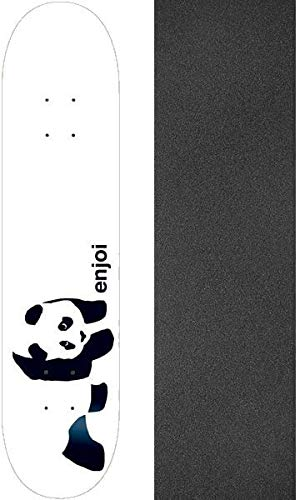 Enjoi Skateboards Whitey Panda Skateboard Deck–19,7x 80cm mit Mob Grip Perforiert Grip Tape–Bundle of 2Stück