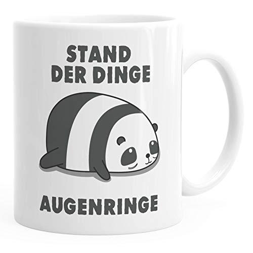MoonWorks® Kaffee-Tasse Stand der Dinge Augenringe Bürotasse Motiv Panda Bürotasse Motiv Zebra Bürotasse weiß unisize