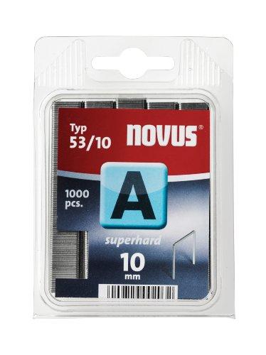 Preisvergleich Produktbild Novus Feindrahtklammern superhart 10 mm,  1000 Tacker-Klammern vom Typ 53 / 10 aus Stahldraht,  für Stoff und Holz