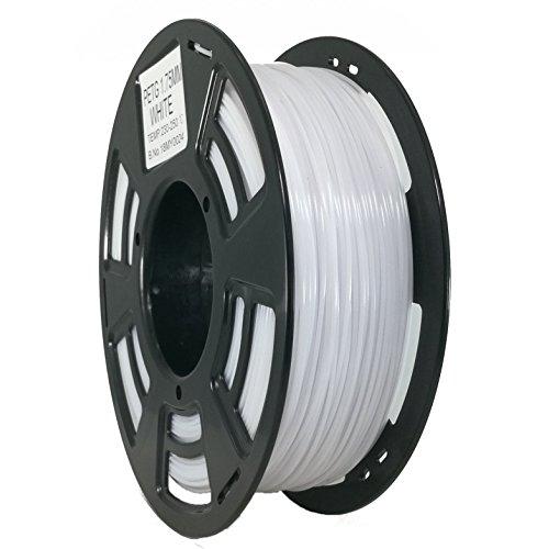 Stronghero3D PETG-Filamente für 3D-Druck, 1,75 mm, Nettogewicht: 1 kg, Genauigkeit +/-0,05 mm (weiß)