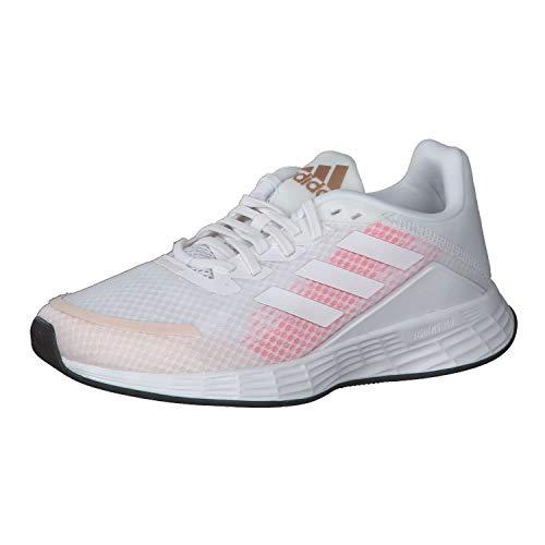adidas Damskie buty do biegania Duramo Sl, biały - Cloud White Cloud White Signal Pink - 38 EU