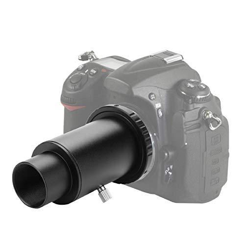 Tubo de extensión del telescopio, aleación de Aluminio de 1.25 Pulgadas Tubo de extensión del telescopio M42 Rosca en T Adaptador en T Anillo T2 para cámara Nikon