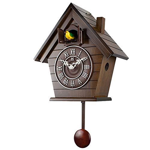 Kuckucksuhr European Wood Clock Schlafzimmer Mittelmeer Wohnzimmer Kinder Wanduhr,3
