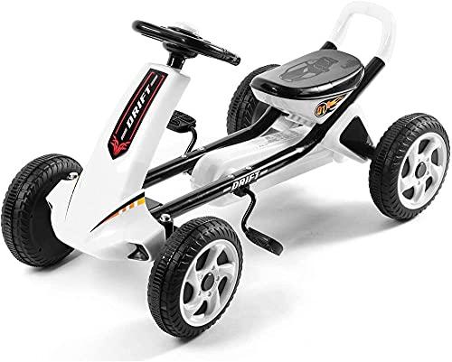 JSL Niños S Bicicletas-Niños S Karts Ergonomía Vehículos de cuatro ruedas para el desarrollo cerebral y entrenamiento de funciones físicas OneColor-Blanco