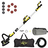 CUBEWAY Drywall Sander with Vacuum Attachment, Innovative Fixture for Ceiling Sander, Electric Drywall Sander with LED Light, Variable Speed and ETL Listed