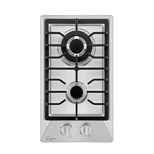 "Empava 24"" Gas Stove Cooktop 4 Italy SABAF Sealed Burners NG/LPG Convertible Tempered Glass in Black EMPV-GC4L6"