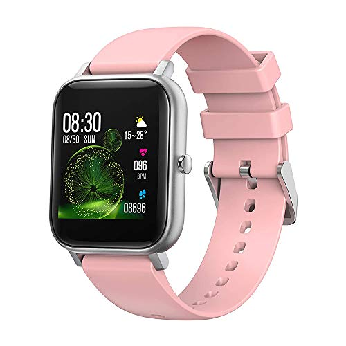 Smart watch Fitness Tracker, 1.4' Full Touch Screen Sports Watch, Activity Tracker with Sleep Monitor, Step Counter, Waterproof Pedometer Watch for Men Women Kids for IOS Android,Pink