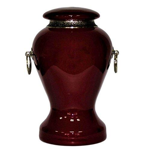 exclusif en verre Art Urne funéraire pour cendres. Unique Memorial funéraires Urne Urne Adul, Verre, Red, Size: 8.3\