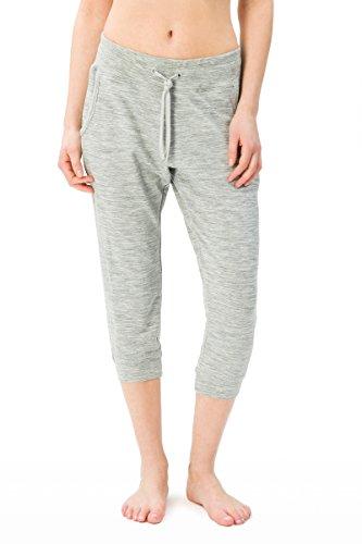 super. Natural W Essential Crop Femme en Laine mérinos Pantalon de Jogging XS Ash Melange