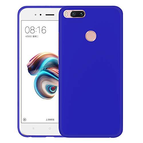 TBOC Funda de Gel TPU Azul para Xiaomi Mi A1 [5.5 Pulgadas] Carcasa de Silicona Ultrafina y Flexible para Teléfono Móvil