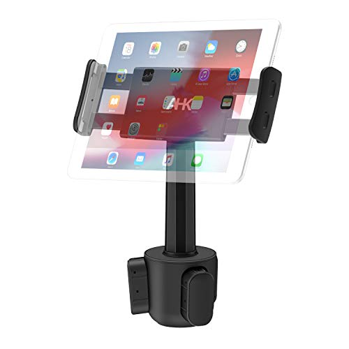 Car Cup Holder Tablet Mount, AHK Universal Tablet & Smartphone Car Cradle Holder for iPad Pro/Air/Mini, Kindle,Tablets Nintendo Switch Smartphones, Compatible with 4.4