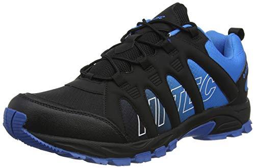 Hi-Tec Men's Warrior Walking Shoe, Black/Blue, 8 UK