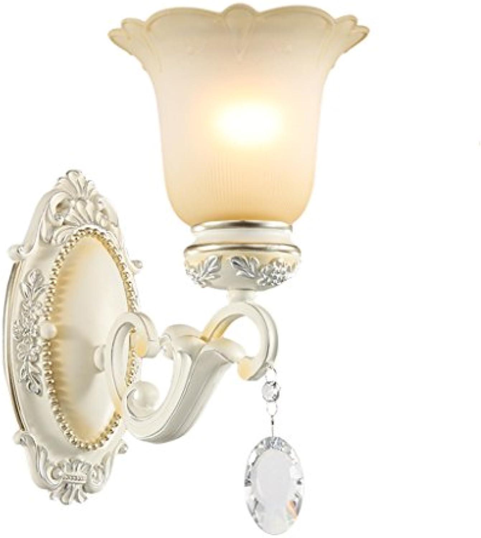 Europische Einzelkopf Harz Wand Lampe Schlafzimmer Nachttisch Lampe Retro Hintergrund Wand Lampe