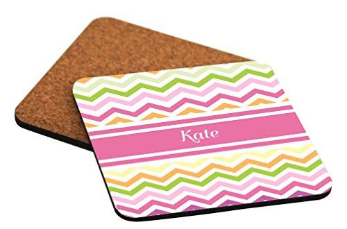 Rikki Knight - Posavasos cuadrados, diseño de cervezas, color rosa