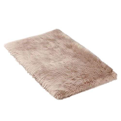 Mamum Peau de Mouton synthétique, 150x50cm Cozy Sensation comme véritable Laine Tapis en Fourrure synthétique, Man-Made Luxe Laine Tapis de Canapé Coussin