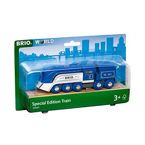 BRIO World 33642 Blauer Dampfzug Special Edition 2021 - Zubehör für die BRIO Holzeisenbahn - Empfohlen ab 3 Jahren
