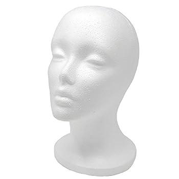 A1 Pacific Female Styrofoam Mannequin Head 11  L