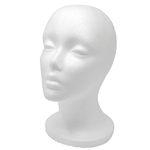A1 Pacific Female Styrofoam Mannequin Head, 11' L
