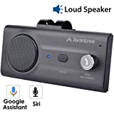 Avantree CK11 Hands Free Bluetooth Car Kits, Loud Speakerphone, Support Siri Google Assistant & Motion Auto On Off, Volume Knob, Wireless in Car Handsfree Speaker Kit with Visor Clip - Titannium