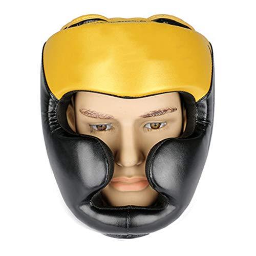 Zhengowen Boxhelm Sanda Muay Thai Taekwondo Kampf Closed Helm Kopfbedeckung Erwachsener Boxen Schutzkappe Kopfschutz für Boxen (Farbe : Red, Size : M)