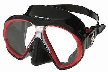 ATOMIC - SubFrame Black-red Tauchmaske