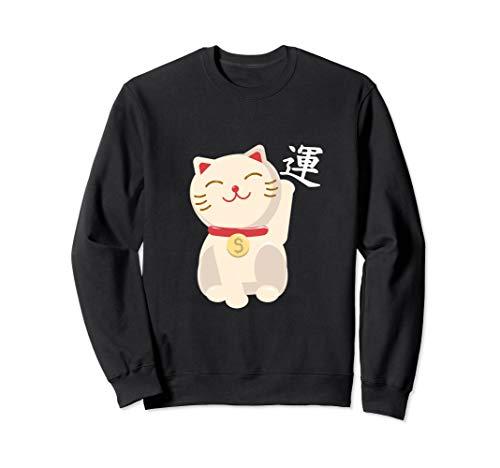 winkende Katze Winkekatze Manekineko japanisch für Glück Sweatshirt