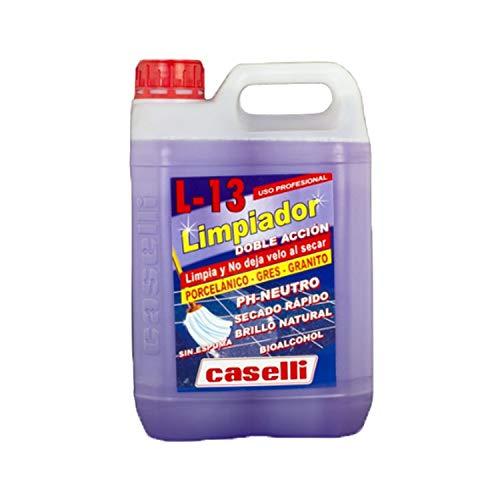 Caselli Limpiador Doble Acción Suelos Porcelanicos-Gres-Granito, L13 -No resbala 5 litros