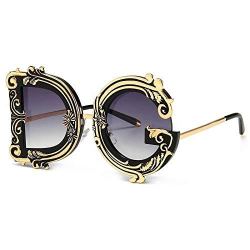 SANDIN Moderne Retro-Trend Street Shooting Model Catwalk Sonnenbrille Sonnenbrille im Barockstil Gray