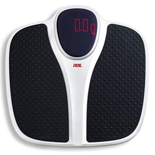 ADE Digitale Waage M316600 bis 200 kg, Extra breit, rutschfeste Wiegefläche, Red-Dot-Matrix-Display, 1.5 kg