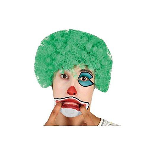 Atosa 31792 Clown pruik, groen, uniseks – volwassenen