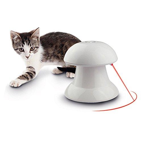 Juguete interactivo con luz giratoria automática, estimulador de entretenimiento, caza de ejercicio para gatos y perros