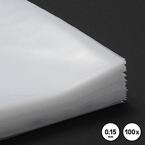 """100 LP Schutzhüllen 12\"""" für Vinyl Schallplatten, 150 mµ, Vinyl, LP, Maxi"""