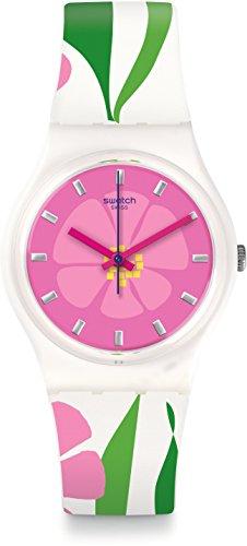 Swatch Orologio Digitale Quarzo da Donna con Cinturino in Silicone GZ304