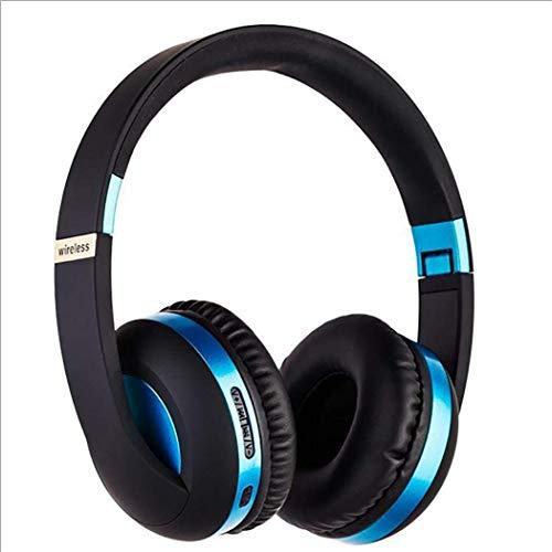 SMX draadloze bluetooth-hoofdtelefoon met opvouwbare, comfortabele eiwit-oorkussens, urenlang speeltijd voor op reis, champagne