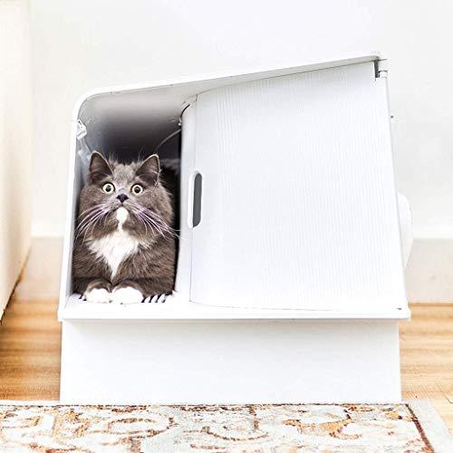 Bac à litière créative de la litière de chat Grands toilettes de chat entièrement fermées, toilettes de chat de désodorisation automatique, chat anti-éclaboussures chat de litière chat Pan Catter Box