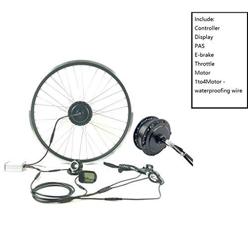 ZLM Bike Conversion Kit Fahrrad-Power-Assisted Umrüstsatz 48V250W Elektro-Fahrrad Umbausatz Mit LCD 5 Display-E-Bike-Kit Hinten Drehen Rad,27.5inch LCD Sets
