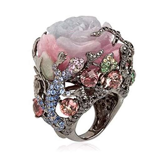 IWINO Vintage Schmuck Türkisch Handmade Mehrfarben Ring Natur Stein Frauen Hochzeitsfeier Brautmode Dekoration Geschenk 9