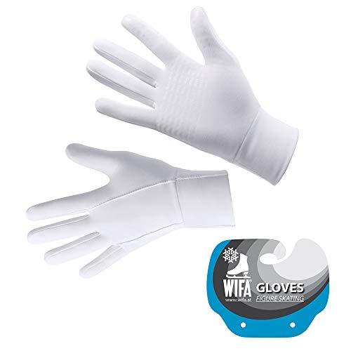 WIFA Eislauf und Trainingshandschuhe Touchscreen rutschfest atmungsaktiv für Kinder und Erwachsene (weiß, 2)