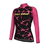 Uglyfrog Cyclisme Jersey Femmes Vélo de Route Top T-Shirts Thermo VTT Maillot Manches Longues Hiver Anti-Froid