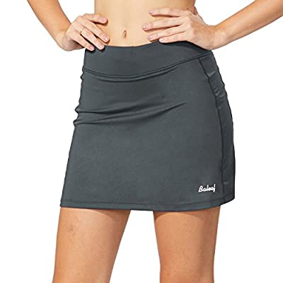 BALEAF Women's Athletic Skorts Lightweight Active Skirts with Shorts Pockets Running Tennis Golf Workout Sports Gray Size S